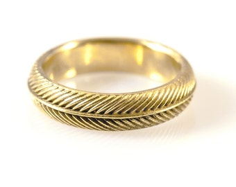 Palm Ring in 14kt gold
