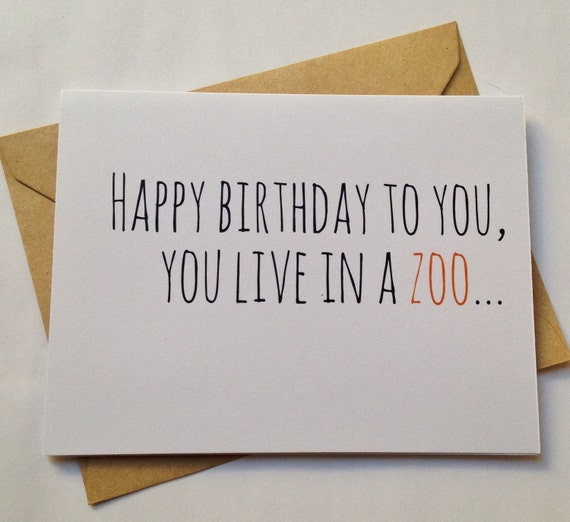 funny birthday card / humor birthday card / snarky by bepaperie, Birthday card