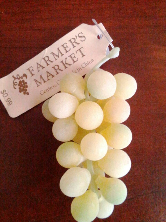 Artificial grapes green grapes grape crafts faux by for Buy grape vines for crafts