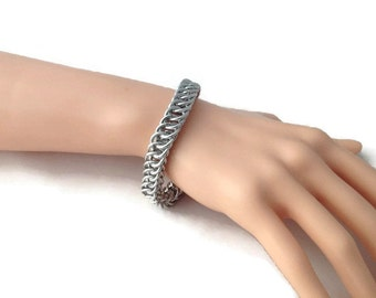 Chunky Chainmaille Bracelet - Men's Big and Chunky Bracelet