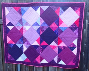 Purple batik quilt ON SALE!!