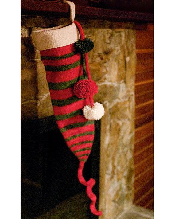 Christmas Stocking Knitting Pattern Bulky : Dr. Seuss Christmas Stocking KNITTING PATTERN: Felted