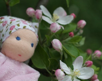 Rose waldorf doll - aromaterapeutic toy from blue bamboo