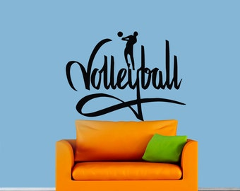 Volleyball Decal Etsy - Vinyl volleyball wall decals