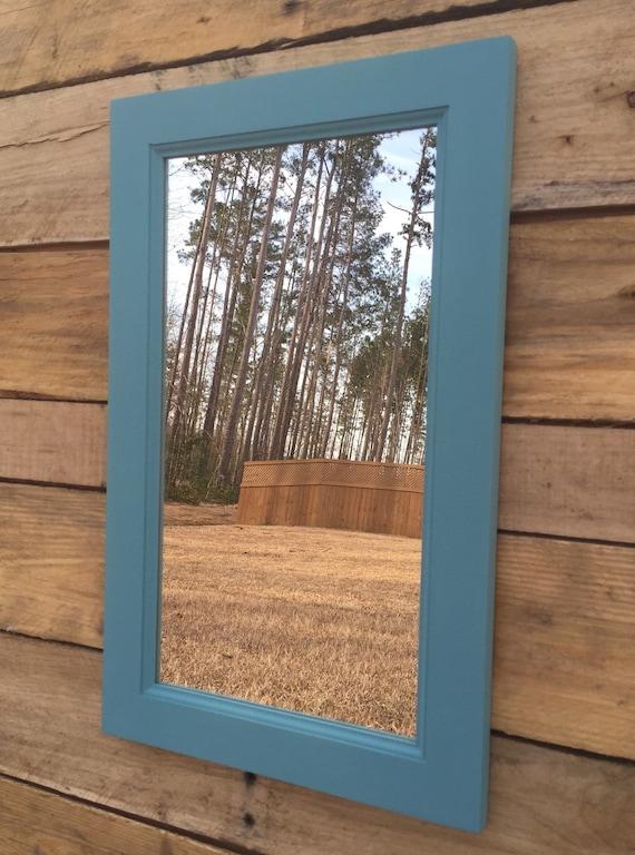 rustic wood framed bathroom mirrors