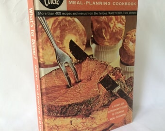 1960s Cookbook, Family Circle, Test Kitchens, Whats for dinner, Retro Lifestyle, Hardback cookbook, 60s Family life, 400 Recipes book