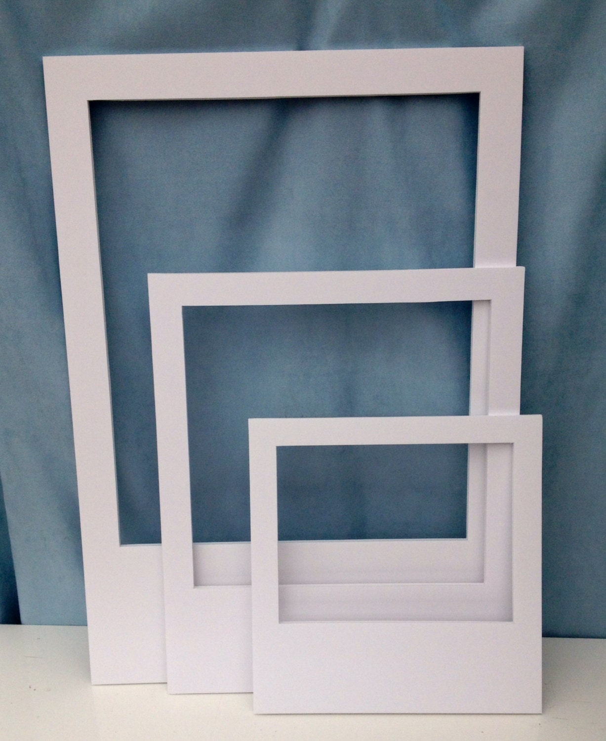 Set Of 3 Plain Polaroid Photo Booth Prop Frames By InstaFrameUK
