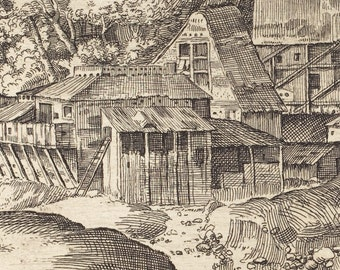 Landscape with a Mill, French Master Etching Print