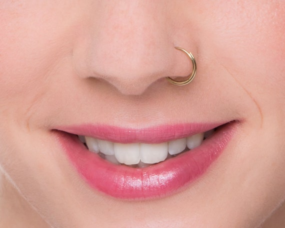 Dainty Nose Ring Nose Hoop Nose Jewellry Septum Ring