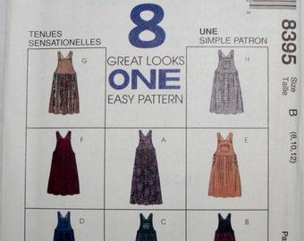 McCalls 8395 Misses Jumper Sewing Pattern Size 8-10-12