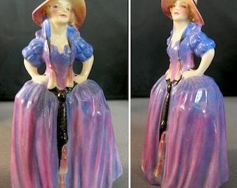 Vintage Royal Doulton Porcelain Miniature Figurine Patricia 1930s