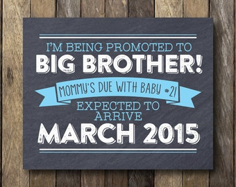 Big Brother Announcement - I'm Being Promoted to Big Brother - Printable Pregnancy Announcement - Pregnancy Reveal Sign - Big Brother Prop