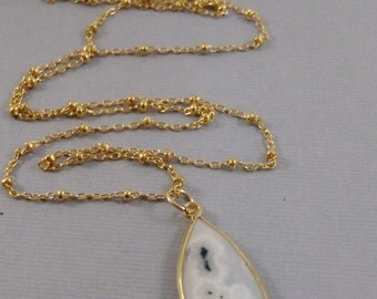 Solar Quartz,Necklace,Druzy Necklace,Personalize,Gold Filled,Gold Solar Quartz,Solar Quartz Necklace,Gold Necklace,Agate, SeaMaidenJewelry