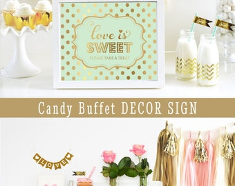 Mint and Gold Wedding Decor Mint and Gold Bridal Shower Mint and Gold Party Decorations Mint and Gold Decor SIGN ONLY (EB3058FW)