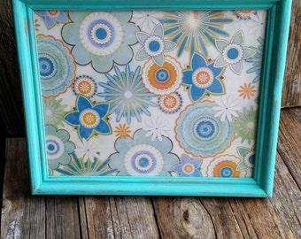 Aqua 8x10 Distressed Frame
