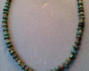 Southwest Kingman Turquoise Single Strand Neacklace