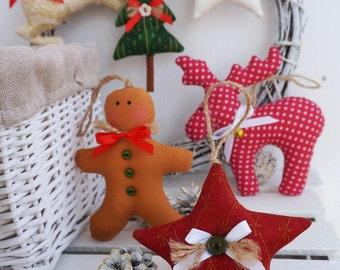 PDF Digital Pattern '6 Christmas Ornaments' Holiday Home Decor