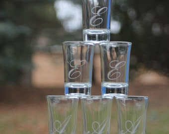 Personalized Etched Shot Glass