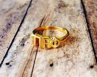 Pi Beta Phi Classic Letter Ring | Sorority Ring | Pi Beta Phi Ring | Pi Phi Ring | Pi Beta Phi Jewelry | Sorority Jewelry