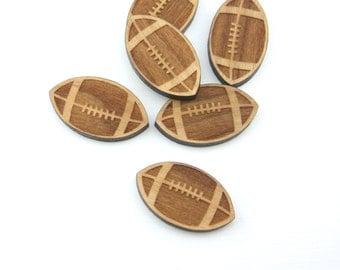 10 Laser cut wooden footballs
