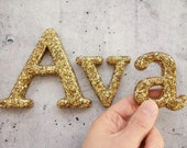 Girls Name or Boys Name in Glitter Resin Letters for Wall Decor, Home Decor. Custom Name and Colours. Example: Ava Name Wall Letters