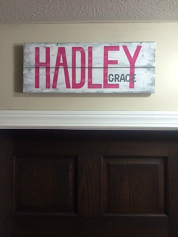 Custom nursery baby name sign personalized name sign over for Door name signs