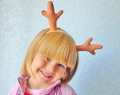 Deer antler headband Reindeer antlers Horns for child Baby horns Christmas costume Toddler Deer antler Select your color!