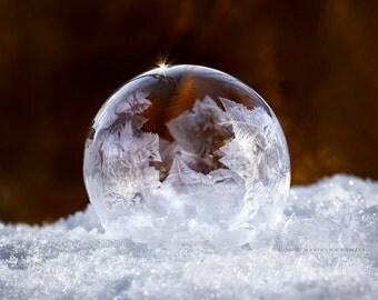 Partly frozen bubble