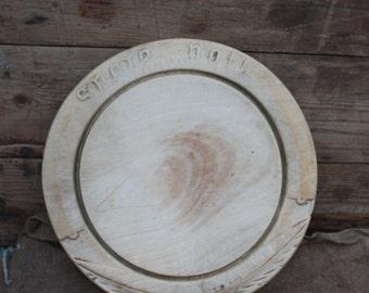 Vintage Wooden Carved Bread Board