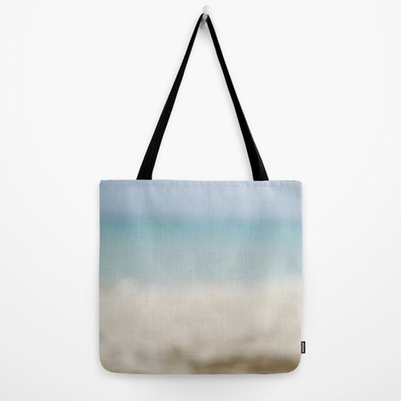 Ocean Tote Bag, Blue and Beige, Beach Colors, Yoga, Photography, Women's Purse, Large Gym Bag, Small Teacher's Bag, Book Tote, Travel Gear
