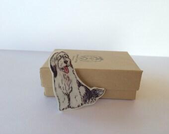 Old English Sheepdog Brooch