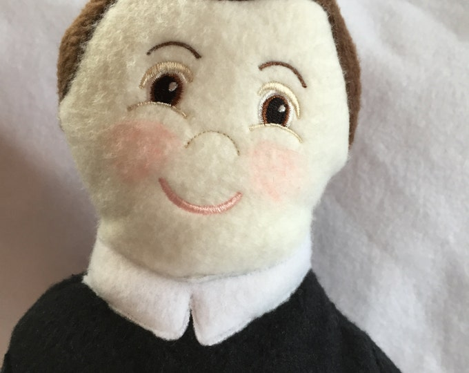 Saint Gerard Soft Saint Doll, Soft & Perfect to Snuggle with. St Gerard, Catholic Saint Doll, Patron of Mothers, Expectant Mothers