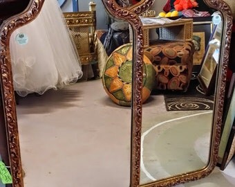 1973 Vintage Gilded Gold Large Mirror (Only 1 available)  J.A Olsen Company