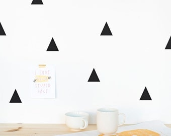 Triangle Wall decal / Wall Triangles Vinyl Sticker / Wall Triangles Home decor / Triangle pattern wall decal / Geometric wall decal