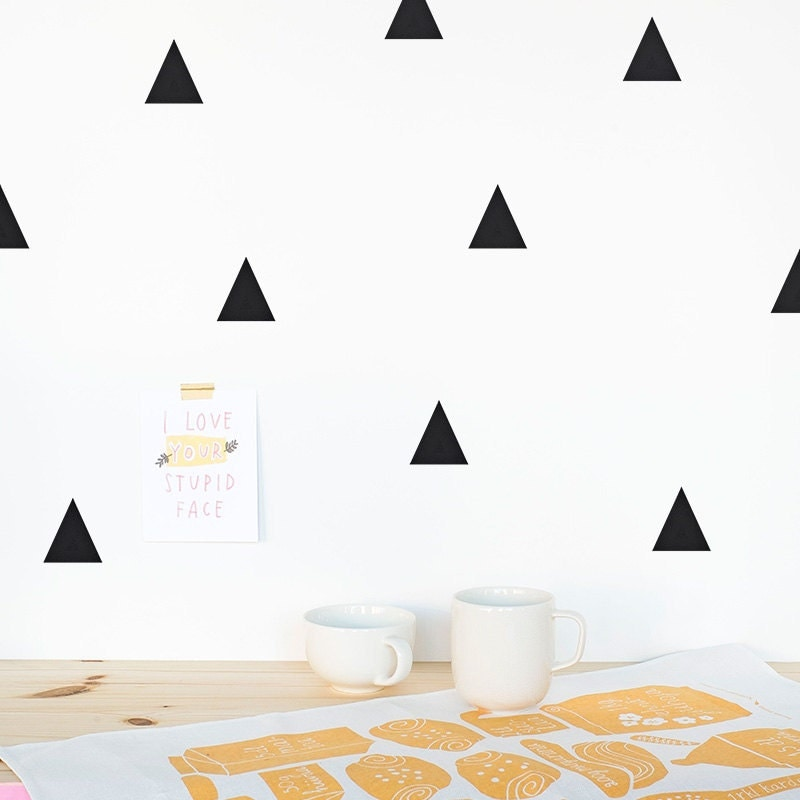 Triangle Wall Decal Wall Triangles Vinyl Sticker Wall - Make your own decal for walls