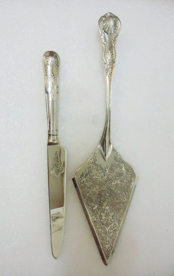 antique silver wedding cake knife vintage silver tone wedding cake serving knife set 10791
