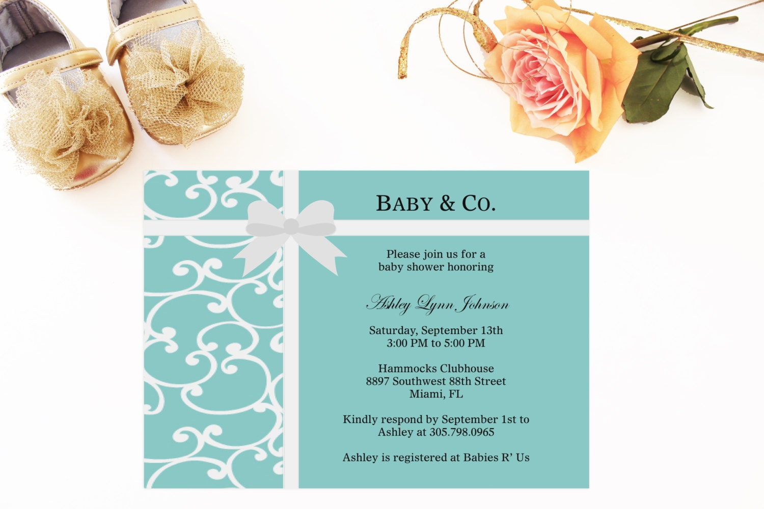 tiffany and co inspired baby shower by loveandpaperie on etsy