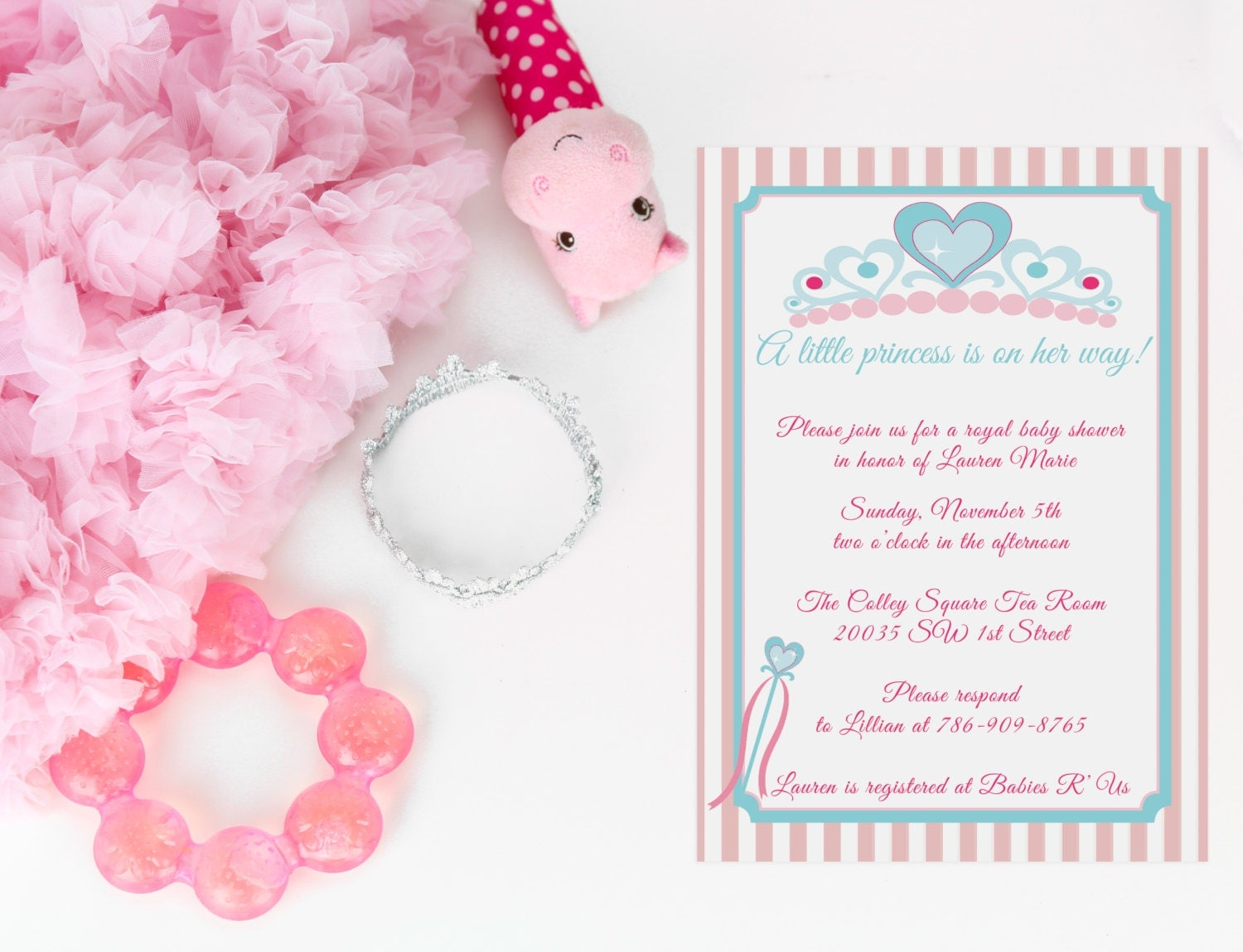 little princess baby shower invitation digital by loveandpaperie