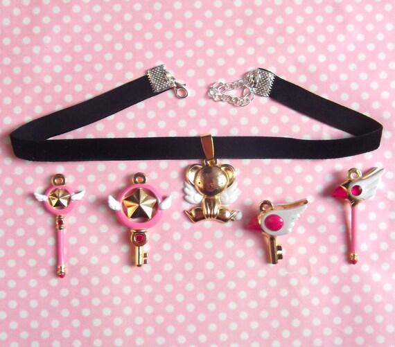 Cardcaptor Sakura charm black velvet choker