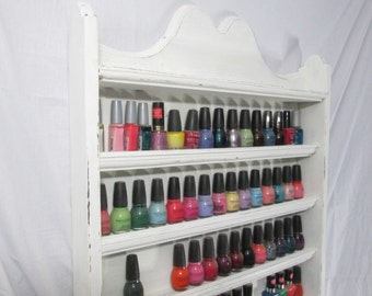 Nail Polish Rack, Up to 70 Bottles, Colonial Style ~ Painted
