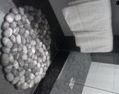 Super suave gris fieltro alfombra de piedra