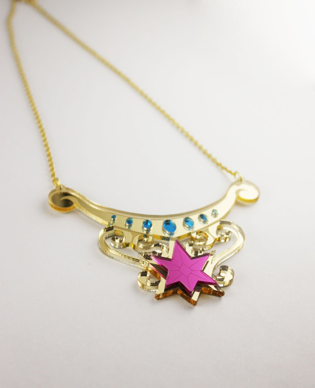 twilight sparkle element of magic necklace by edenki on etsy