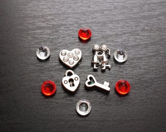 Valentine Floating Charm Set for Floating Lockets-Gift Ideas for Women