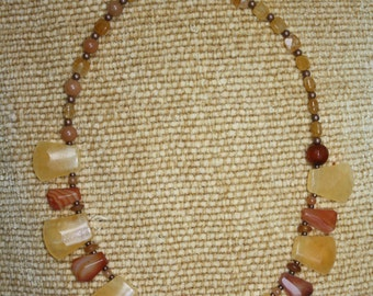 Sunflower Calcite & Agate Necklace