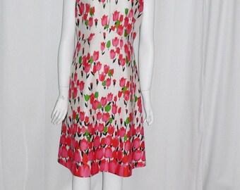 1970's  Polyester Emilio Borghese Tulip Dress