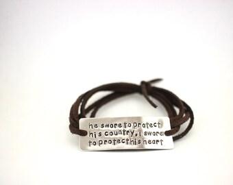 deployment bracelet, army wife, navy wife, marine wife, military wife, military girlfriend, deployment jewelry, military jewelry