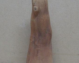 Tan cypress knee with face. Painting carving etc