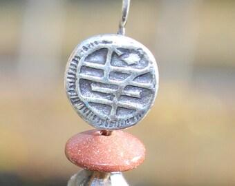 Boho earrings, beaded earrings,  dangling earrings, post earrings, pink earrings, beaded dangle earring, Asian jewelry,  FREE SHIPPING USA
