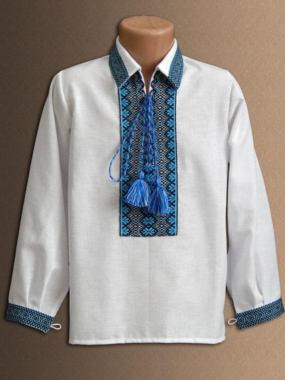 Vyshyvanka ukrainian embroidered shirt for boys folk