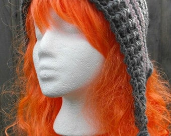 Crochet Earflap Hat Pattern Child Teen Adult Sizes Bonnet with Braids Slouchy toque beanie earwarmer ribbed PDF Instant Download